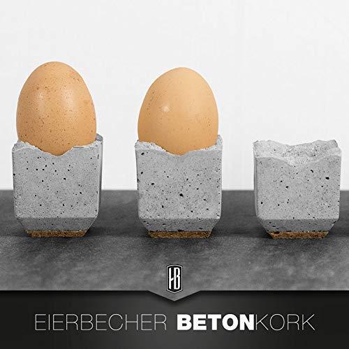 4ER SET Eierbecher Beton/Kork