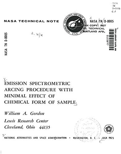 Emission spectrometric arcing procedure with minimal effect of chemical form of sample. [performed on refractory metal matrix composites] (English Edition)