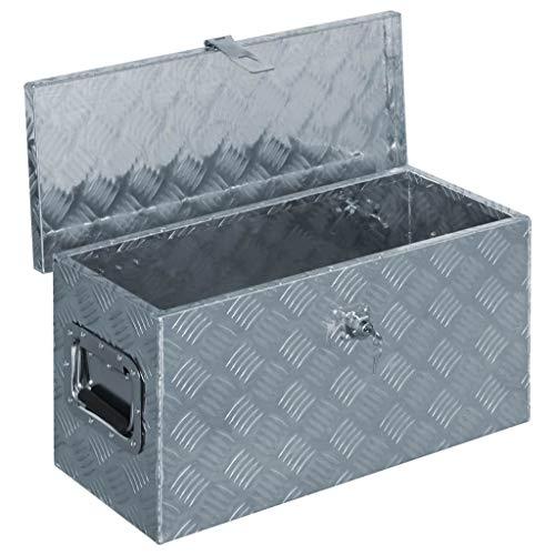 vidaXL Aluminiumkiste 61,5×26,5x30cm Alu Box Koffer Werkzeugbox Transportkiste - 4