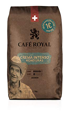 Café Royal Honduras Crema Intenso Bean Coffee, intensity 4/5, Single Pack, 1 kg