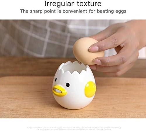 LOWW Separador de huevos, separador de huevos creativo, dulce pollo de cerámica, separador de huevos, filtro de proteínas, herramienta de horneado ...