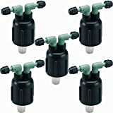 5 Pack - Orbit Two Port Water Drip Manifold for 1/4' Dripper Tubing - 2 Ports - 67030