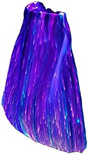 GALEXBIT Drawstring Bag Fiber Optic Flashing Light up Backpack for Rave Music Festival Party Concert Halloween with 7 Color Selection & 11 Flashing Mode