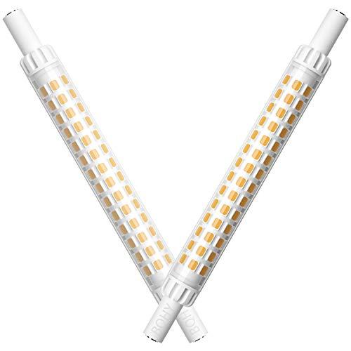 R7S LED 118mm dimmbar,R7S LED 118mm leuchtmittel,dimmbar R7S LED Glühbirnen, r7s led,230V,Dimmbare warmweiß R7s LED 9.5W 118mm Leuchtmittel,Entspricht 80-100W Halogenlampe,360Grad,2er-Set