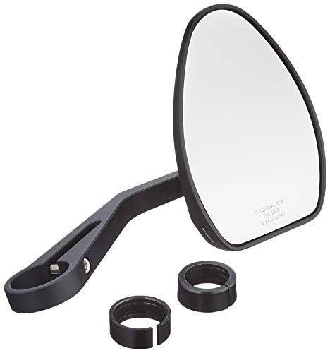 HIGHSIDER 301782 Motorradspiegel Lenkerendenspiegel für 22/25,4mm Ferrara 2 Alu schwarz