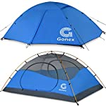 Gonex Camping Tent, 2-Person Dome Tent Windproof & Waterproof Camping Tent for 3 Seasons, Perfect for Camping, Hiking, Backpacking & Mountaineering, Easy Set Up