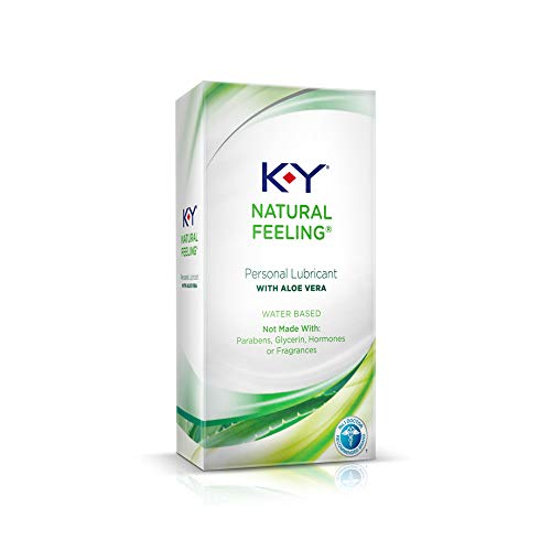 K-Y Natural Feeling Lube with Aloe Vera, Personal Lubricant, Water-Based Formula, Safe to Use with Silicone Toys and Condoms, For Men, Women and Couples, 1.69 FL OZ (Pack of 1)