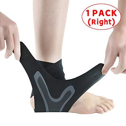 cinsey Einstellbare Elastische Nylon Strap Knöchel Unterstützung Sport Pressurizable Bandage Knöchelbandage Badminton Basketball Fitness Protector Right Foot