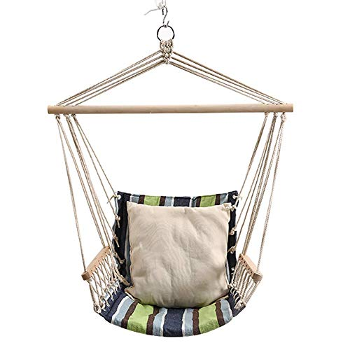 DAKEUR Hanging Hammock Chair,portable Garden Swing Seat,single Hammock Tree Travel Camping Poly Cotton Waterproof Indoor And Outdoor A 95x46cm(37x18inch)