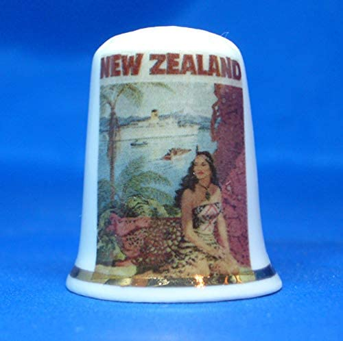 Birchcroft Porcelain China Collectable Thimble - Travel Poster N