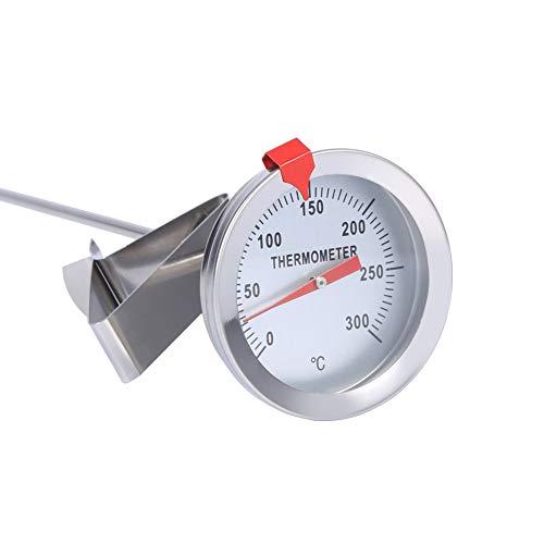 MAGT Termometro Cocina De Cocina De Acero Inoxidable Portátil, 12' Termómetro De Sonda De Cocina De Cocina Larga con Clip, Ideal para Barbacoa Comida Carne Cerveza Casera Vino Leche Café (A)