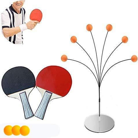 Ping Pong Table Tennis Trainer Equipo de Entrenamiento Kit Juego de paletas de pelotas de ping-pong para practicar deportes de pelota para niños y adultos Juegos en interiores y exteriores