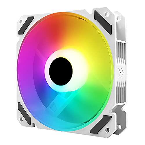 Ventilador de caja del ordenador de 12 cm / 4,7 pulgadas Disipación rápida del calor 20 dB Disipador Ventilador de refrigeración del ordenador LED con efecto luz RGB fría Soporte 5 V Argb Aura Sync