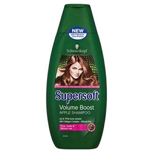 Glamorous Hub Schwarzkopf Professional Supersoft Volume Boost Champú sin silicona para cabello fino y débil sin vida (400 ml) (el empaque puede variar)