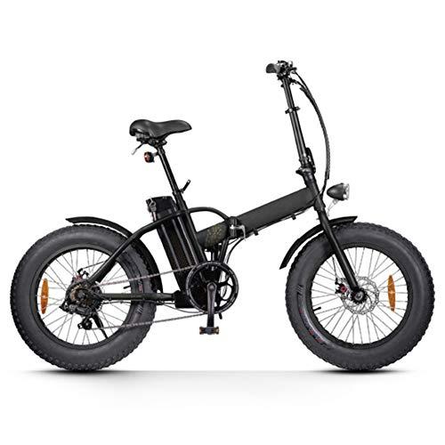 WSHA 20 in Snow Fat Tire Ebike 36V 250W Bicicleta eléctrica Plegable con batería de Litio extraíble de 10Ah Bicicleta de cercanías Plegable, para Hombres Adultos, Mujeres