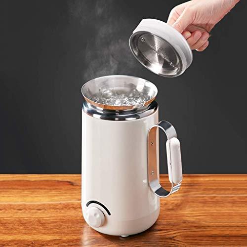 ZXvbyuff Multifunktions 0,5 Liter Wasserkocher for Tee und heißes Wasser, Cordless, Auto-Absperr- und Trockengehschutz Doppel Antiverbrühschutz, Edelstahl