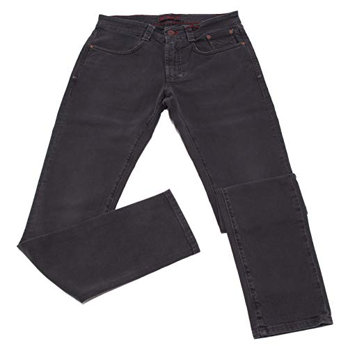 Carlo Chionna 0567K Jeans Uomo 9.2 Denim & CO. Pantalone Dark Grey Delave' Cotton Trouser Man [31]