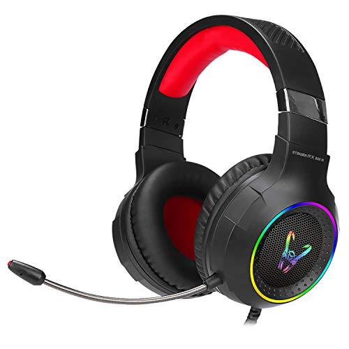 Woxter Stinger RX 930 H - Auriculares Gaming con micrófono (Diadema ajustable, retroiluminados, PS4,PC,Xbox One,Nintendo Switch), color Negro