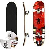Skateboard Komplettboard für Kinder Jungendliche und Erwachsene Werkzeug ABEC-7 Kugellager und...