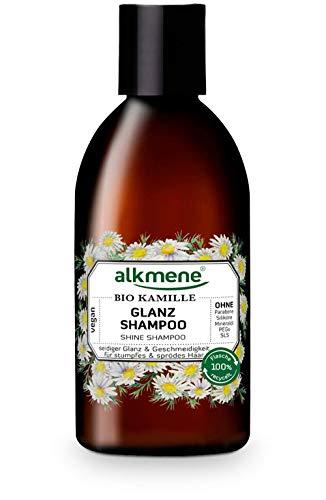 alkmene Glanz Shampoo mit Bio Kamille - Haarshampoo für stumpfes & sprödes Haar - veganes Shampoo ohne Silikon, Parabene, Mineralöl, SLS & SLES - Haarpflege (1x 250 ml)