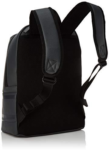 41x+an0htCL - Calvin Klein Striped Logo Pu Round Backpack - Mochilas Hombre
