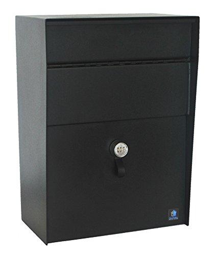 CastleBox Designs Large Heavy Duty Locking Wall Mounted Mailbox Dropbox