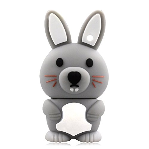818-Shop No36500050002 USB-Sticks (2 GB) Vetter Hase 3D Grau