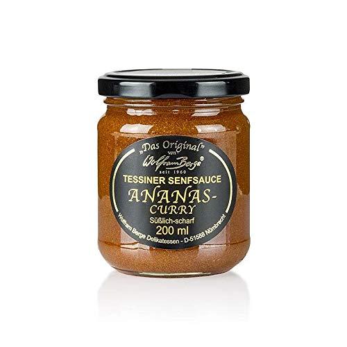 Original Tessiner Ananas-Curry-Senf-Sauce, 200 ml