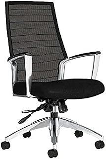 Global Accord Mesh-Back Fabric High-Back Executive Office Chair