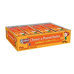 Keebler, Sandwich Crackers, Cheese and Peanut Butter, 11oz Tray (8 Count)