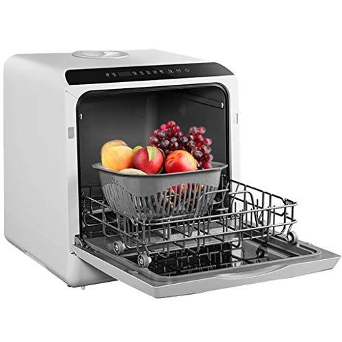 Garny Tischgeschirrspüler Automatische Arbeitsplatte Tragbare Mini-Geschirrspüler, 220 V 360 ° Azimut auf und ab sprühen für eine 6-Port 6-Satz-Mahlzeit mit großer Kapazität