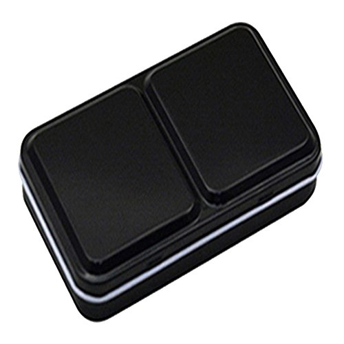 Kangkang@ Empty Solid Watercolor Box Case Tin for 12/24/48 Colors Artist Students Drawing Paint Box Palette Painting Office&School Supply (12 colors)