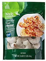 Fresh Brand – Raw Extra Large Peeled & Deveined Tail On Shrimp (26-30 Count/Pound), 1 lb (Frozen), R