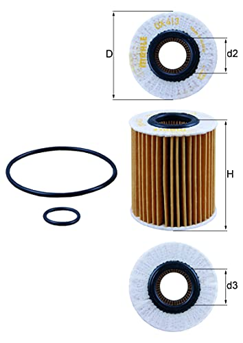 Mahle Filter OX413D1 Filtro De Aceite
