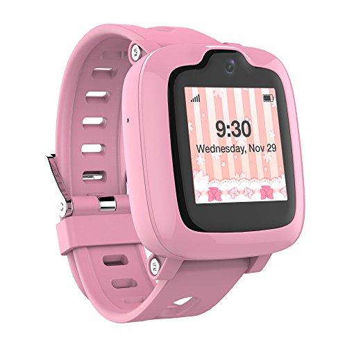 Smart Watch Phone para Niños - Ultimate 3G Smartwatch con Rastreador GPS, Pantalla táctil, Cámara, Touch SOS Remote Alarm, Rastreadores de fitness, Relojes de teléfono celular impermeables para niñas Niños IP67 a prueba de agua por myFirst Fone-Pink
