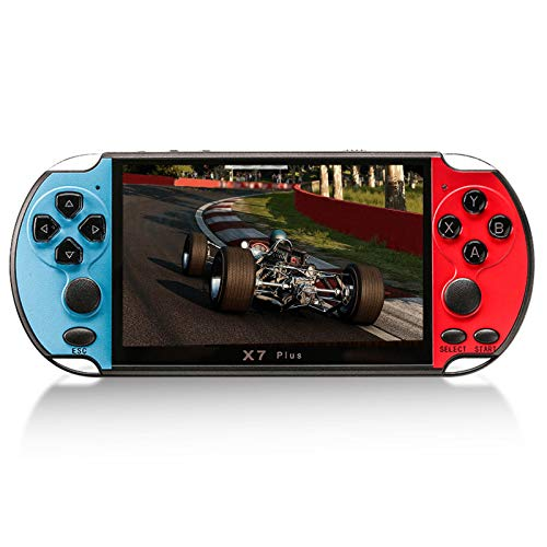 GoolRC Consola de Videojuegos de 5,1 Pulgadas X7 Plus, Jugadores de Juegos Portátiles, Doble balancín, Memoria de 8 GB, 1000 Juegos, Controlador de Juegos MP5