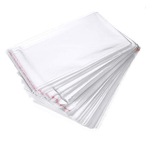 500 Stück Transparente Tüten mit Lasche Folien Beutel Selbstklebend PP Poly Cellophan Adhäsionsverschlußbeutel LP Großhandel Plastiktüte (4 x 6 cm)