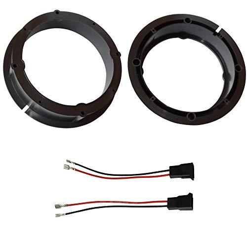 AERZETIX - Kit - 2 Adaptadores de Altavoces - 165mm - 2 Conectores enchufes - Puertas Delanteras/traseras - Montantes Traseros - para automóvil - C11612A
