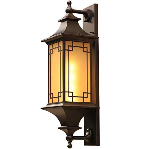 Warm Home Lámpara de pared LED al aire libre patio balcón pasillo pasillo lámpara de pared Creative Villa 70 * 23 * 20,5 cm