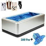 YYRZ Máquina para Cubiertas De Zapatos, Dispensador Cubierta Zapatos Automático, con 200 Piezas Desechable El Plastico Bota Cubierta del Zapato, para Médicos, Hogar, Oficina