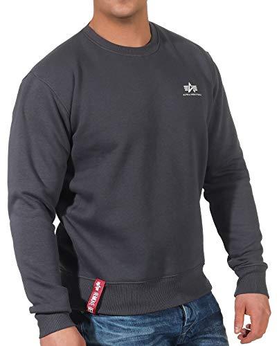 Alpha Industries Basic Small Logo Sweatshirt Schwarz/Grau S