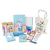 PACK MATERIAL ESCOLAR STARPLAST - Set material escritorio, lote productos escolar, colores pastel - Azul