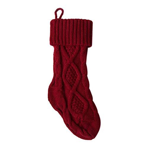Milopon Nikolausstiefel Weihnachten Weinflaschen Beutel zum befüllen Weihnachtsstiefel für Kamin Nikolausstrumpf als Weihnachtsdeko (Rot)