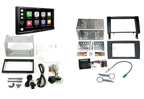 Pioneer Autoradio für Mercedes SLK R171 05-11 mit Apple CarPlay Android Auto DAB+ Digitalradio inkl. Antennenadapter Radioadapterkabel Radioblende (schwarz) Rahmen und Zubehör