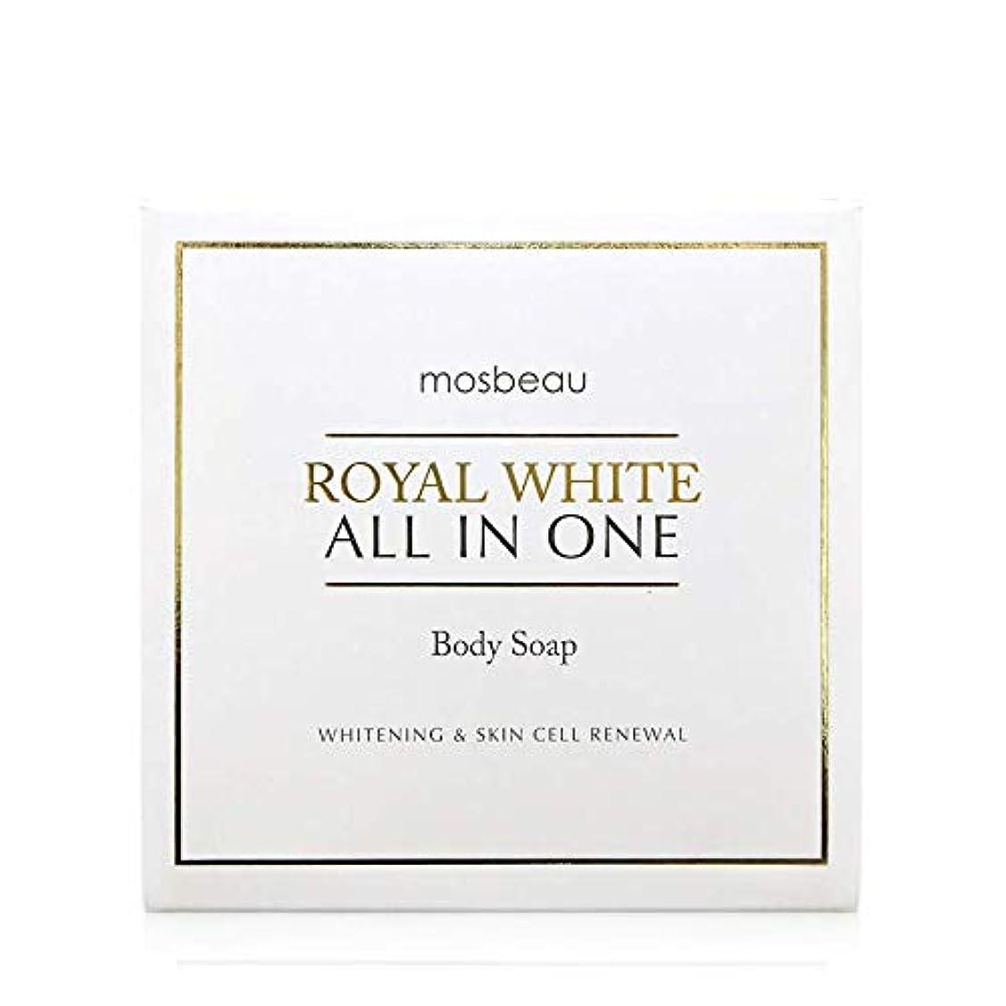 ロードされた不規則性配分mosbeau ROYAL WHITE ALL-IN-ONE BODY SOAP 100g ロィヤルホワイトオールインワンボディーソープ