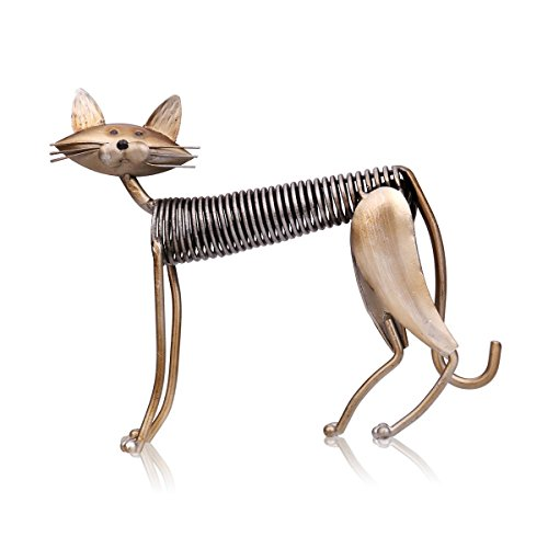 Tooarts Metall Katze Deko Skulptur Dekofigur zum Dekorieren
