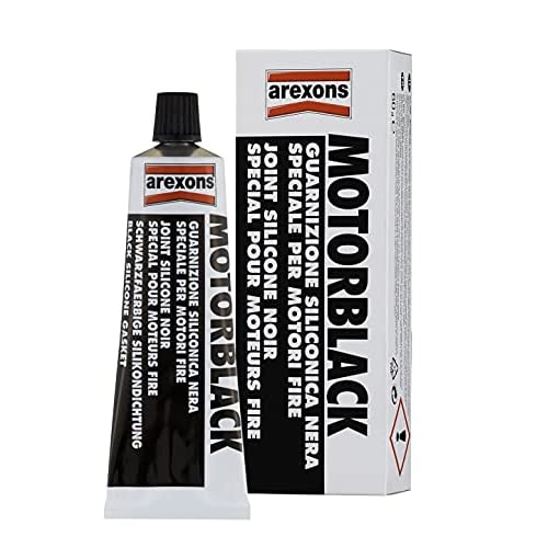 AREXONS Motorblack Guarnizione Siliconica, 60 Gr, Sigillante Resistente, Specifico per Sigillatura Coppa Olio, Isolante Elettrico, Silicone Adatto a Temperature Estreme