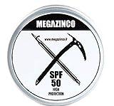 MEGAZINCO SPF 50 mineral y 100% NATURAL protector solar alto/pasta para surfistas, marineros, alpinistas, esquiadores, snowboarders, triatletas, nadadores. SURF CREMA SOLAR