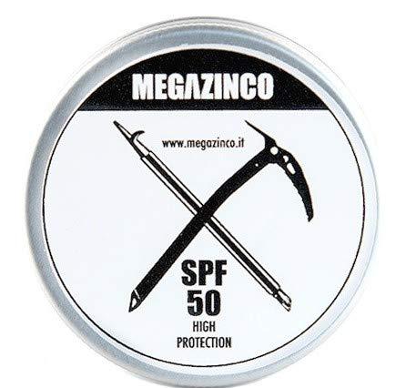 MEGAZINCO crème/pâte SPF 50 haute protection minérale et 100% NATURELLE pour surfeurs, marins, alpinistes, skialpers, snowboarders, triathlètes, nageurs. CRÈME SURF SUN
