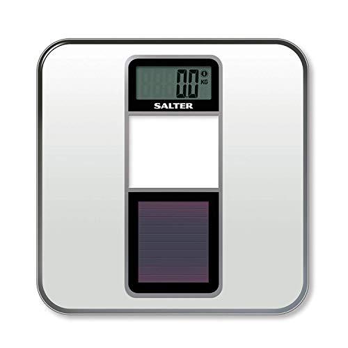 SALTER Eco digitale Badezimmerwaage, Umweltfreundlich, Nachhaltig, Solarbetrieben, Elektronische Waage, Betrieben durch natürliches Licht, Keine Batterien